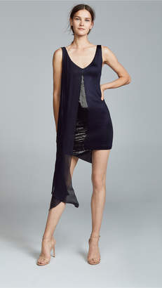 Galvan London Serpentine Sequin Dress