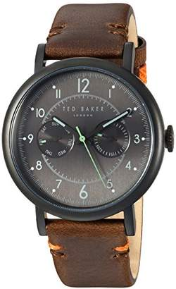 Ted Baker Men's 'Aiden' Quartz Stainless Steel and Leather Casual Watch