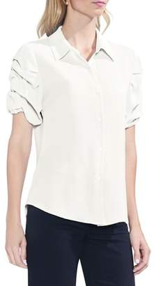 Vince Camuto Puff Sleeve Button Down Blouse