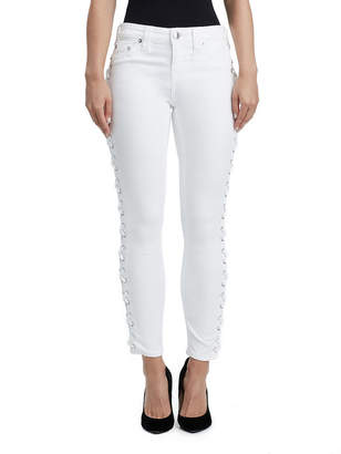 True Religion SUPER SKINNY LACE UP ANKLE JEAN