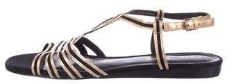 Pour La Victoire Ankle Strap Leather Sandals