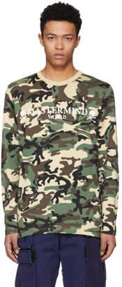 mastermind WORLD Beige Camo Long Sleeve Urushi T-Shirt