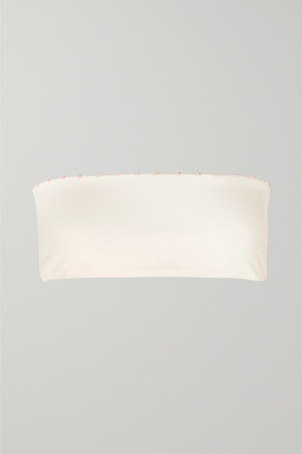 Marysia Swim Corsica Knotted Stretch-crepe Bandeau Bikini Top - White