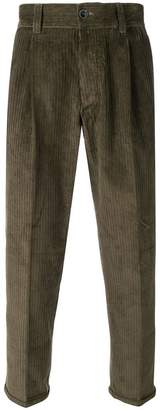Pt01 corduroy cropped trousers