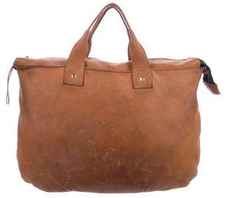 Clare Vivier Grained Leather Satchel