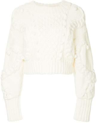 Oscar de la Renta cable knit sweater