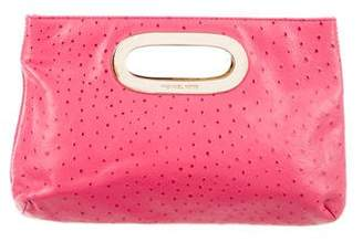MICHAEL Michael Kors Embossed Leather Clutch