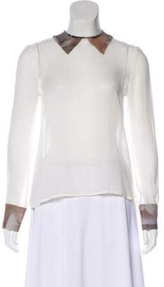 Risto Silk Long Sleeve Blouse