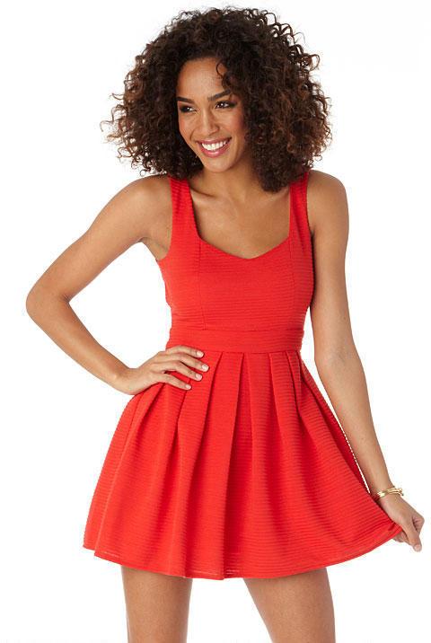 Alloy Shinewood Daisy Fit & Flare Dress