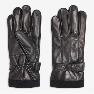 Joe Fresh Men's Leather Gloves, Black (Size L/XL)