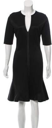 Givenchy Short Sleeve Knee-Length Dress