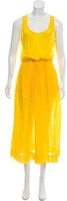 Diane von Furstenberg Pleated Maxi Dress
