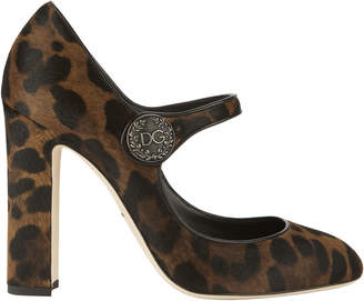 Dolce & Gabbana Leopard Print Mary Jane Pumps