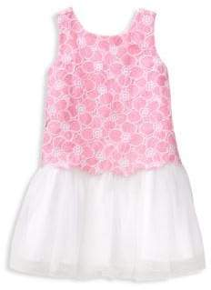 Janie and Jack Baby's, Toddler's, Little Girl's& Girl's Floral Lace Dress