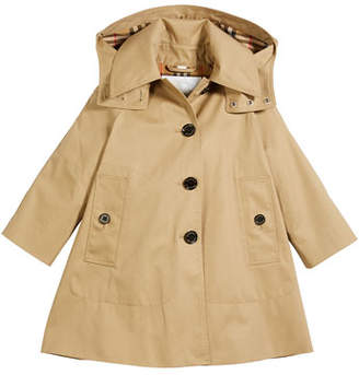 Burberry Bethel Hooded Trenchcoat, Size 4-14