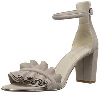 Kenneth Cole New York Women's Langley Ankle Ruffle Detail on Front Strap Heeled Sandal