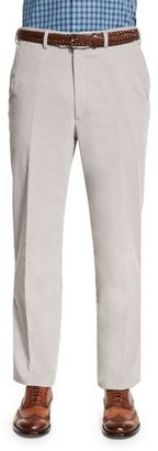 Brioni Pinwale Corduroy Trousers, Gray $625 thestylecure.com