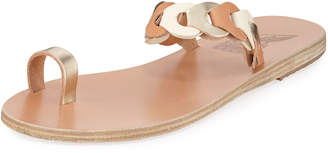 Ancient Greek Sandals Thalia Link Flat Leather Sandals