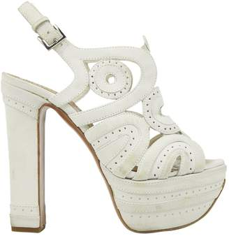Alaia White Suede Heels