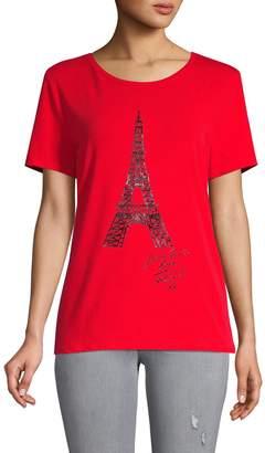 Karl Lagerfeld Paris Shiney Eiffel Tower T-Shirt