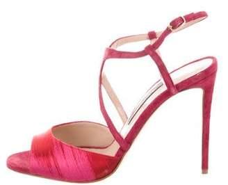 Zac Posen Suede Ankle-Strap Sandals