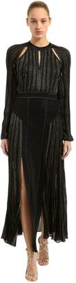 Roberto Cavalli Plisse Lurex Knit Dress