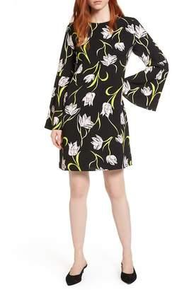 Halogen Bow Back Floral Shift Dress (Regular & Petite)