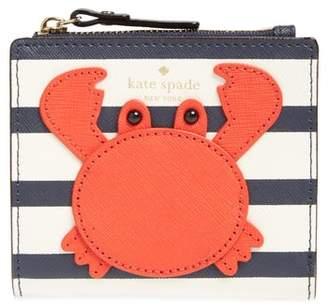 Kate Spade Shore Thing - Stripe Adalyn Leather Wallet