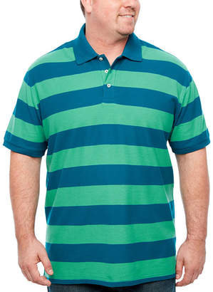 Co THE FOUNDRY SUPPLY The Foundry Big & Tall Supply Easy Care Quick Dry Short Sleeve Stripe Knit Polo Shirt Big and Tall