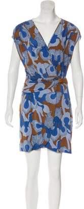 Tibi Abstract Print Dress