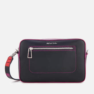 Paul Smith Women's Multi Stripe Strap Cross Body Bag - Navy