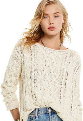 Ralph Lauren Denim & Supply Cable-Knit Cotton Sweater $98 thestylecure.com