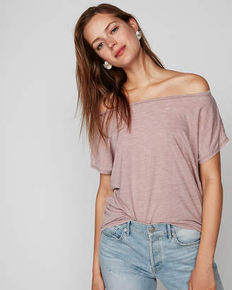 Express One Eleven Off The Shoulder London Tee