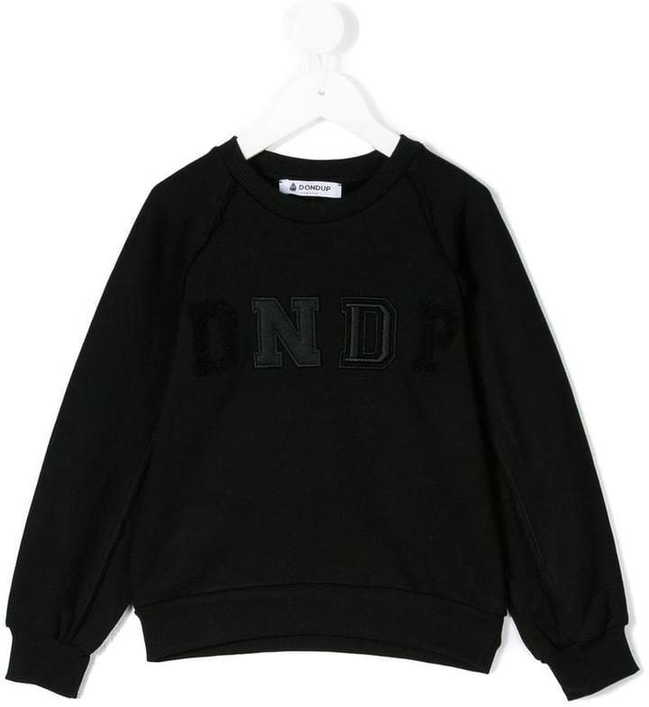 Dondup Kids contrast logo patch sweatshirt