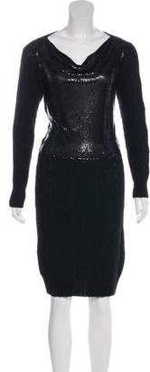 Jean Paul Gaultier Cable Knit Metallic Dress