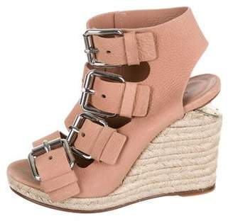 Alexander Wang Leather Round-Toe Wedges