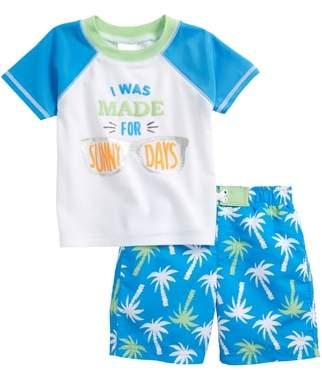 Sol Swim Sunny Palms Two-Piece Rashguard Swimsuit
