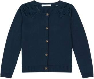 Chloé Embroidered Shoulder Cardigan