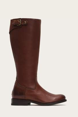 Frye Jayden Buckle Back Zip Wide Calf