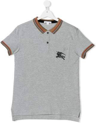 Burberry TEEN short-sleeve polo shirt
