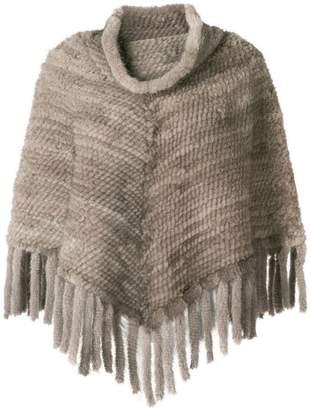 Max Mara chunky knit poncho