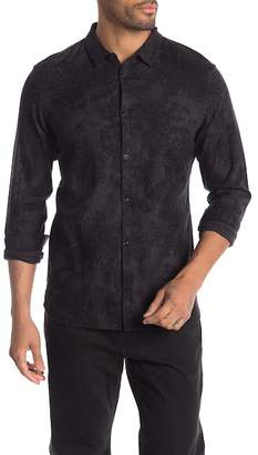 AllSaints Termo Long Sleeve Regular Fit Flannel Shirt