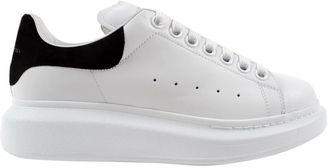 Alexander McQueen Contrasting Heel Platform Sneakers $392 thestylecure.com
