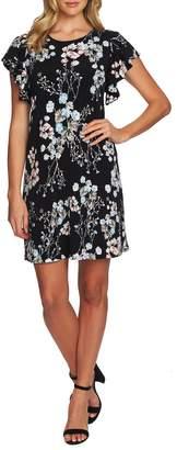 CeCe Ruffle Sleeve Floral Dress