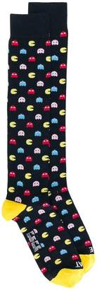 fe-fe pac-man patterned socks