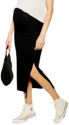 Topshop MATERNITY Ribbed Midi Skirt