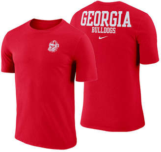 Nike Men's Georgia Bulldogs Dri-fit Cotton Stadium T-Shirt