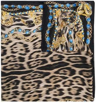Roberto Cavalli Animalier print scarf