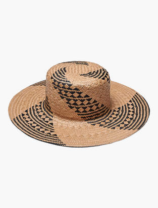 Lucky Brand Straw Patterned Weave Boater Hat