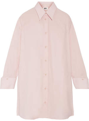 MM6 Maison Margiela - Oversized Cotton-poplin Shirt Dress - Baby pink $495 thestylecure.com